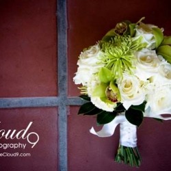 Beautiful Green Wedding Arrangement Starting at $59